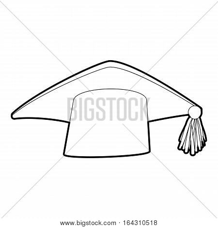 Graduation cap icon. Isometric 3d illustration of graduation cap vector icon for web