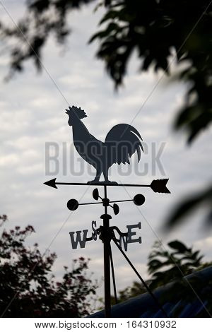 The Wind cock direction Weather vane silhouette