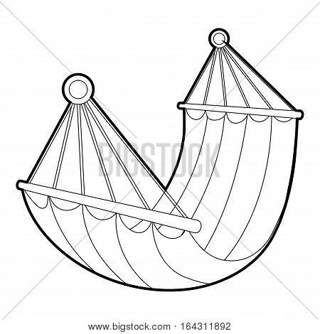 Hammock icon. Isometric 3d illustration of hammock vector icon for web