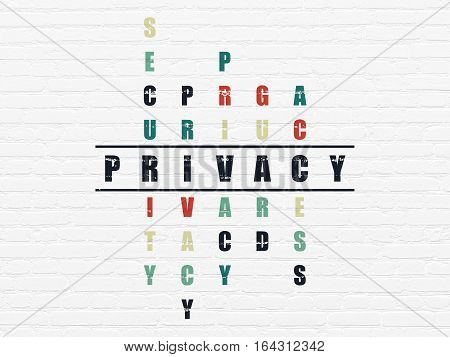 Protection concept: Painted black word Privacy in solving Crossword Puzzle