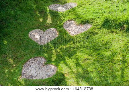 The Path In The Form Of A Heart. Love Concept.