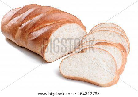 sliced Bread loaf. loaf sliced isolated on white background