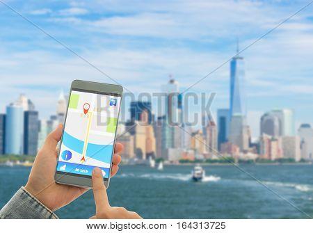 Navigation System Or Gps Smartphone