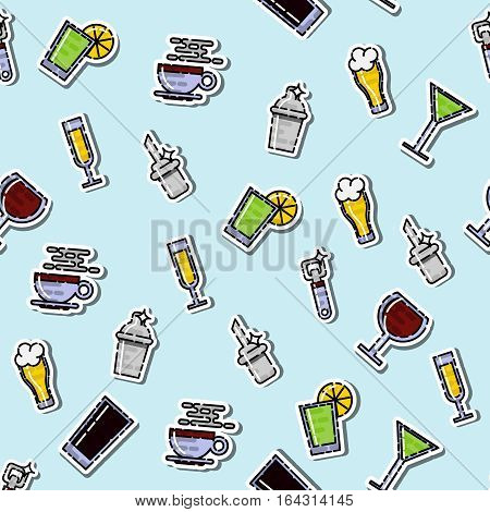 Colored Bar icons set pattern. Vector illustration, EPS 10