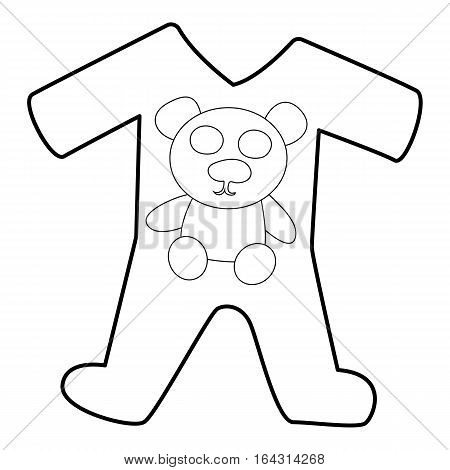 Childrens romper suit icon. Isometric 3d illustration of childrens romper suit vector icon for web