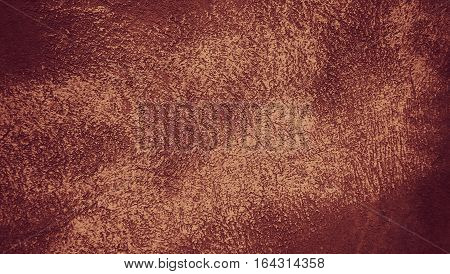 Abstract Grunge Decorative Brown Stucco Wall Background. Rough Painted Texture With Copy Space. Web Banner.