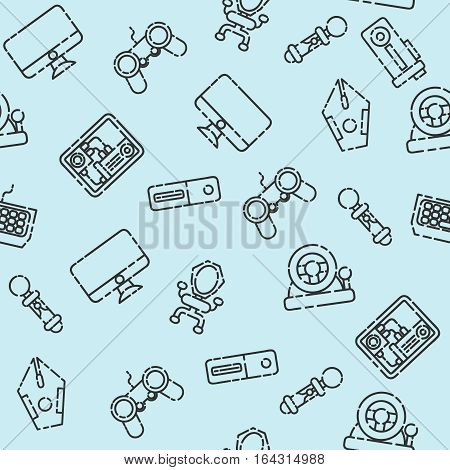 Cybersport pattern. Gamepad set. Vector illustration EPS 10
