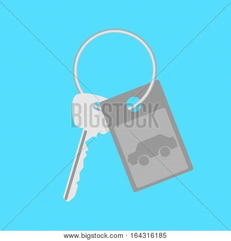 Car keys gift. Car keys isolated vector car key icon illustration