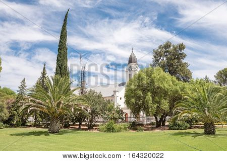 Garden of the Dutch Reformed Church in Jacobsdal a small town in the Free State Province.