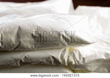 Bags Of Drugs On Table