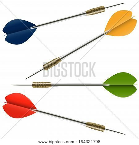 hight detailed darts with metal shaft and colored flight