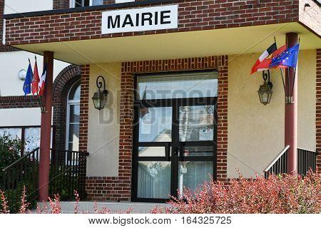 Bois Guilbert France - june 23 2016 : the city hall