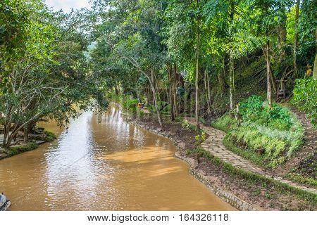 River in a park Prenn in Dalat