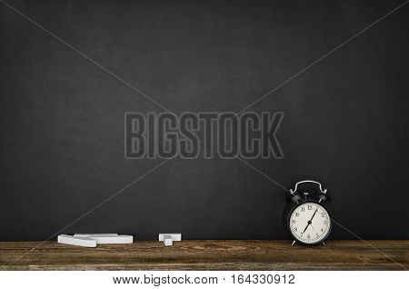 Black blank chalkboard texture with room for text or drawing