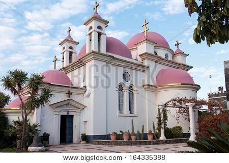 Greek Orthodox Monastery Of The Twelve Apostles In Capernaum