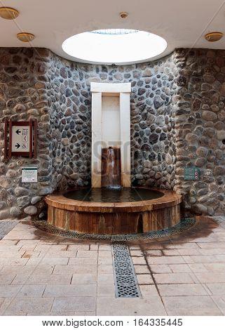 Decorative Fountain In National Park In Capernaum