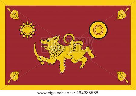 Flag of Southern Province of Sri Lanka. Vector illustration