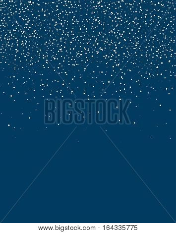 Starfield glowing stars on blue a4 format vertical sky vector background.