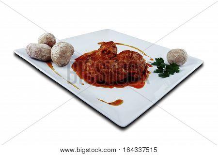Rabbit in salmorejo sauce, Canaria recipes, España