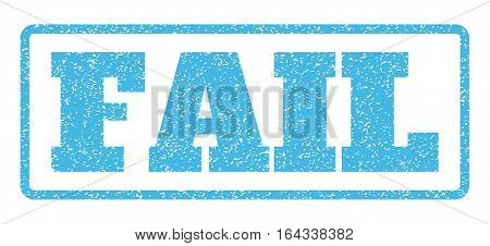 Light Blue rubber seal stamp with Fail text. Vector message inside rounded rectangular shape. Grunge design and dirty texture for watermark labels. Horisontal sticker on a white background.