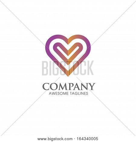 Heart icon vector logo. Heart logo, heart shape. love logo concept. Heart logo. Heart icon. Love, health or doctor and relations symbol. Heart vector logo, heart together icons