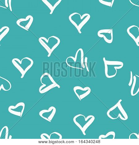 Seamless pattern with the image of hearts. Valentine's Day. Pattern for textile, fabric, wrapping paper.