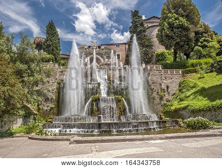 Tivoli the elder brother of Rome located on the western of the Sabine Mountains - a city in the Italian region of Lazio on the river Anio.