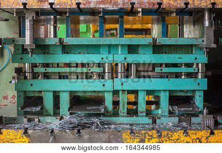 sheet metal stamping tool opened in warehause