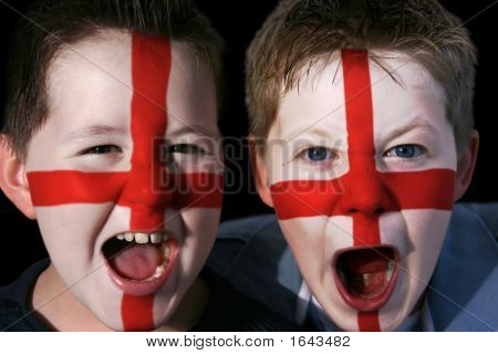Young England Football Fans