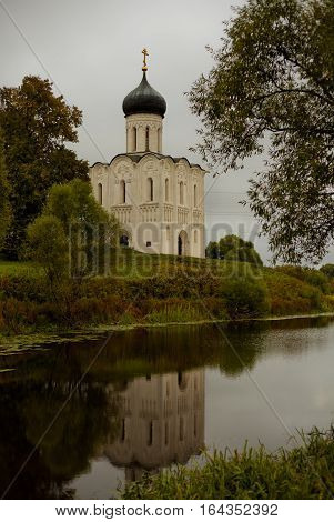 the Church of the Intercession, by the river