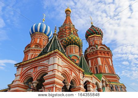 The Cathedral of Vasily the Blessed on the Red Square in Moscow, Russia