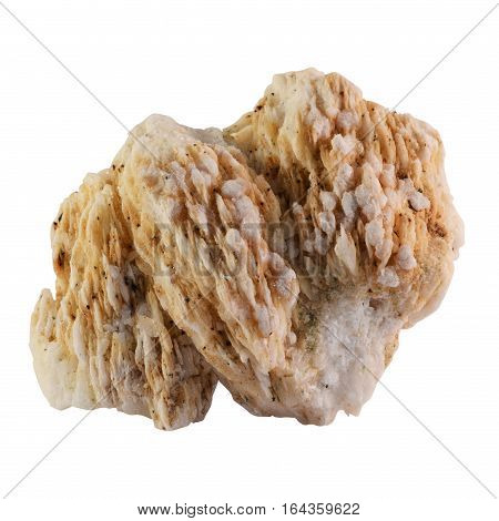 Close up of quartz mineral stone isolated on white background