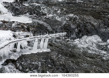 Winter Winding Creek And Snow Covered Landscape 4