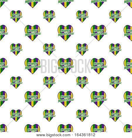 Happy Mardi Gras Logo Pattern