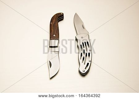 Clasp Knife On A White Background