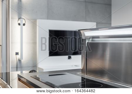 Interior With Induction Hob