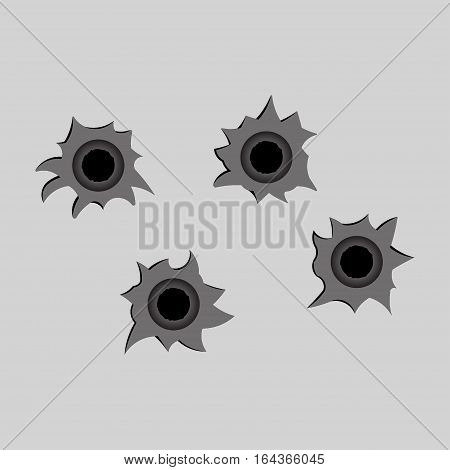 image bullet holes shot fully editable vector