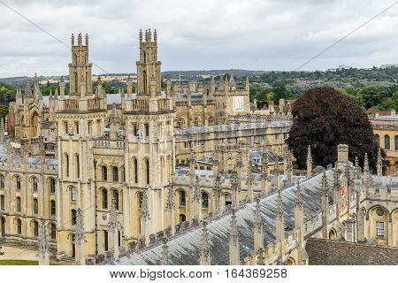 Oxford, United Kingdom - August 21, All Souls College, Oxford University On August 21, 2016 In Oxfor