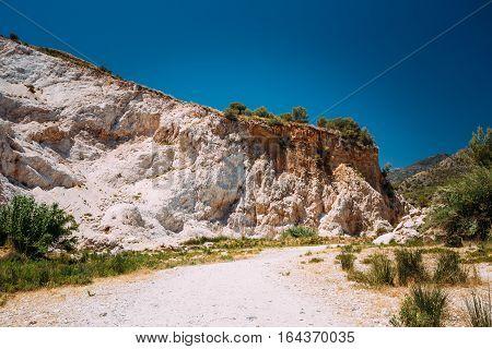 Mountains near Rio Chillar River in Nerja, Malaga, Spain.