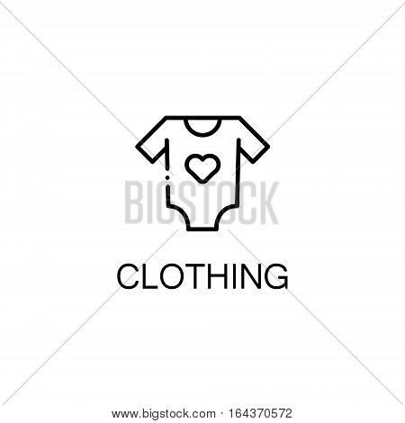 Clothing flat icon. Single high quality outline symbol of baby stuff for web design or mobile app. Thin line signs of clothing for design logo, visit card, etc. Outline pictogram of baby clothing