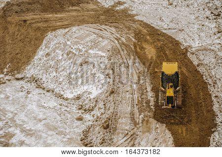 Bulldozer Winter
