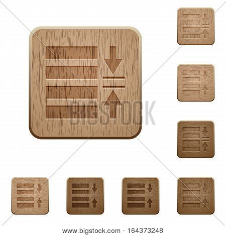 Adjust line spacing on rounded square carved wooden button styles
