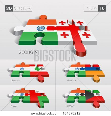 India puzzle part joint with Georgia, Lebanon, Armenia, Oman, Kuwait.