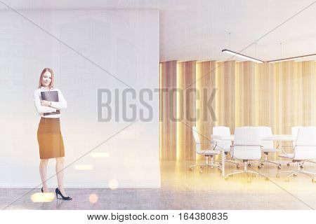 Blond Woman In A Boardroom, Toned