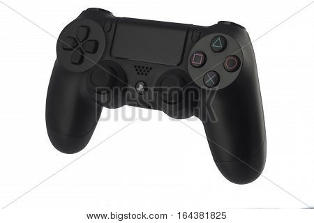 Varna, Bulgaria - 18 November, 2016: Dualshock 4 Controller For Sony Playstation 4 Game Console Is A