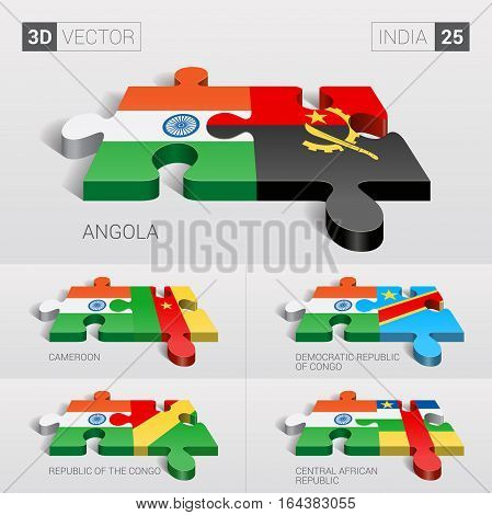 India puzzle part joint with Angola, Cameroon, Democratic Republic of Congo, Republic of the Congo, Central African Republic.