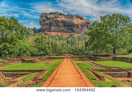 Sri Lanka: ancient Lion Rock fortress in Sigiriya or Sinhagiri