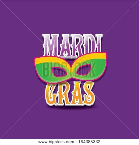 mardi gras vector background with mask and text.vector mardi gras label or icon design template