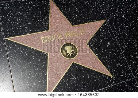 LOS ANGELES CALIFORNIA USA- JUN 01 2015 - bruce willis's star at the Hollywood's Walk of Fame