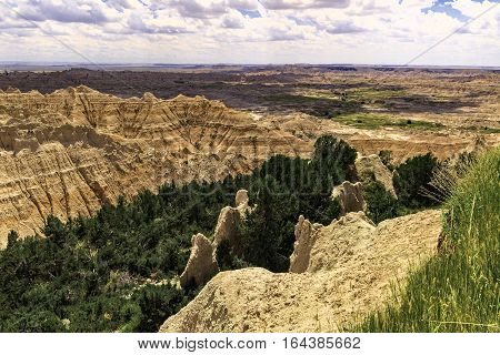 Rock Fin Formations in Badlands National Park
